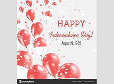 Singapore Independence Day Greeting Card Flying Balloons