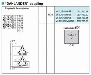 3 Ph  Dahlander 2 Speed 1 Winding  Motor  Switch Help