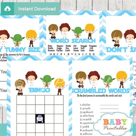 Blue Star Decorations by Blue Chevron Star Wars Baby Shower Games D205