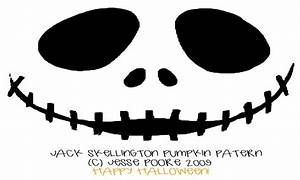 basic jack o lantern faces scary pumpkin stencils jack With jack skellington face template