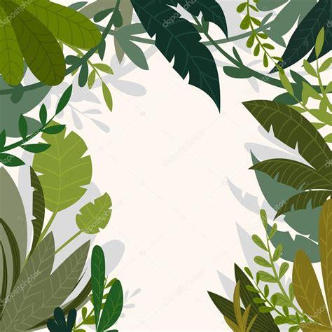 fondo de la selva tropical con palmeras y hojas en estilo de dibujos animados ilustraci 243 n de