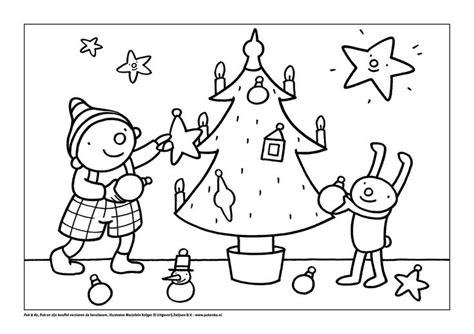Kerststal Kleurplaat Peuters by Kleurplaat Puk Viert Kerst Thema Kerstmis