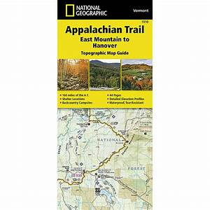 National Geographic Appalachian Trail  East Mountain To