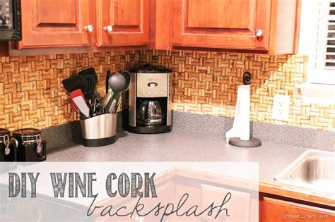 how to do a backsplash in kitchen diy wine cork backsplash
