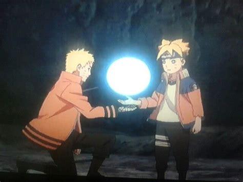 Naruto Helping Boruto Make A Giant Rasengan