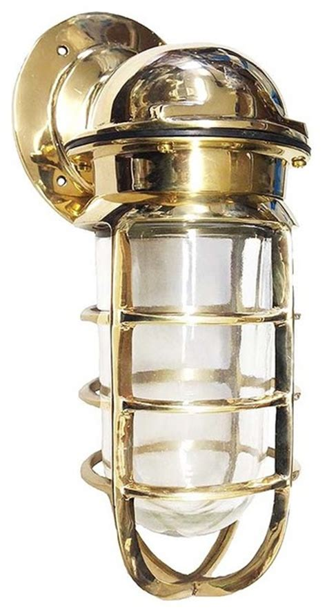 nautical bulkhead light interior exterior in solid brass