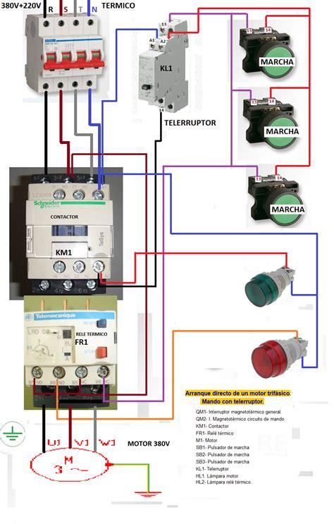 resultado de imagen para esquema electrico de motor marcha parada 220v circuitos varios en