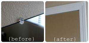 frame your bathroom mirror over plastic clips somewhat With how to frame a bathroom mirror over plastic clips