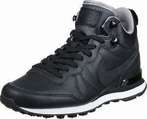 Nike Internationalist Mid Leather W shoes black white