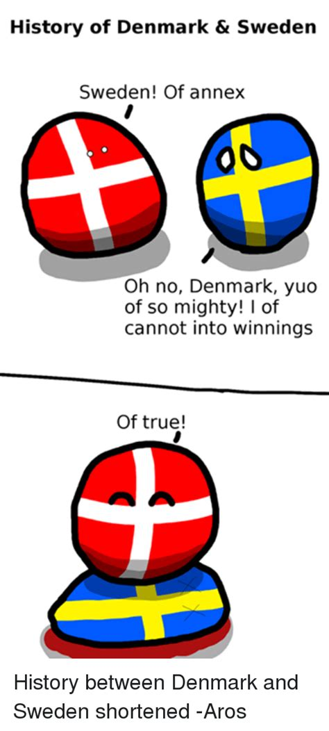History of Denmark & Sweden Sweden! Of Annex Oh No Denmark ...