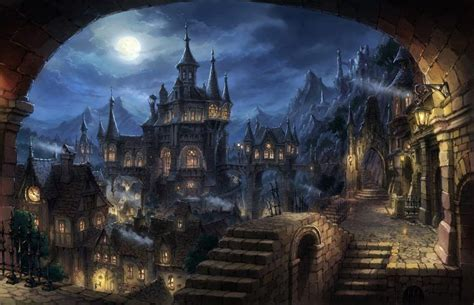 cityscape dark fantasy fantasy art hd wallpaper desktop