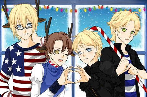 Hetalia Christmas By Amyrose2411 On Deviantart