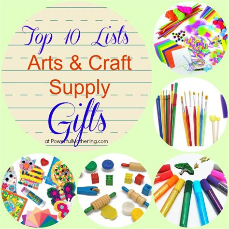 Top 10 Lists Arts & Craft Supply Gifts