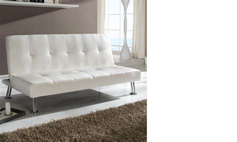 canapé banquette design canapé banquette blanc design en pu et pieds chromés argos