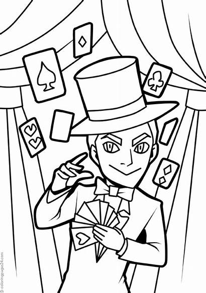 Magician Coloring Pages Books Last Printable
