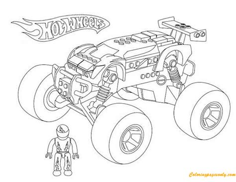 monster truck hot wheels  coloring page  coloring