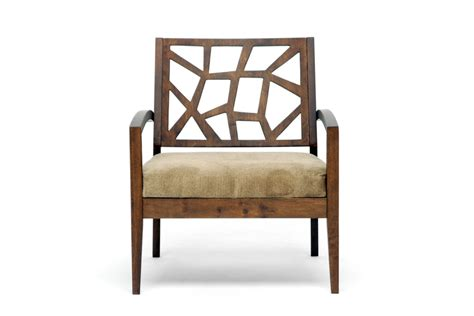 baxton studio wooden modern lounge chair w