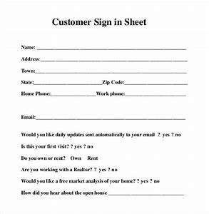 Sign in sheet templates 78 free word excel pdf for Customer sign in sheet template