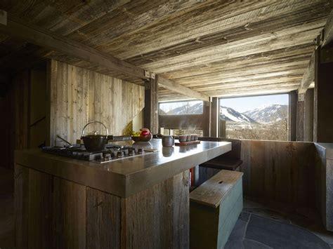 rustic ski chalet renovated  minimal environmental impact