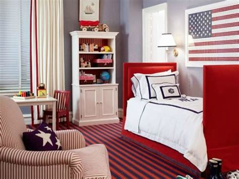 Red, White And Blue Toddler Rooms