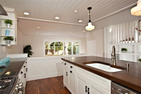 white cabinets with wood countertops birch white shaker wood countertop traditional kitchen
