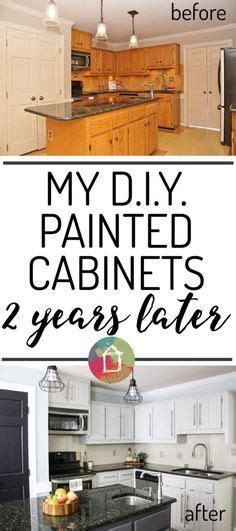 How to Paint Oak Cabinets and Hide the Grain   Pinterest