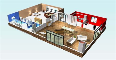 chambre en 3d plan de maison moderne 3 chambres 3d maison moderne