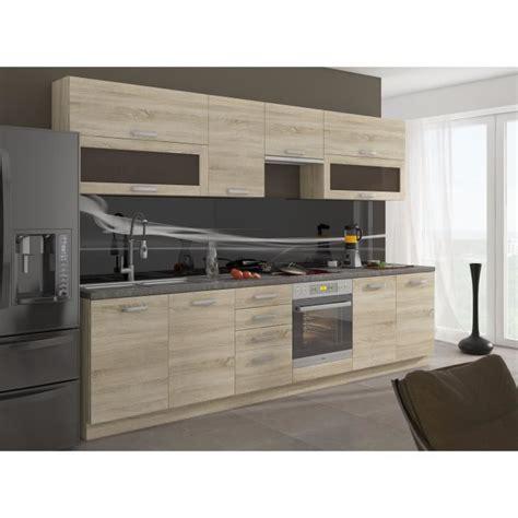 cuisine chene clair lassen cuisine complète 2m60 décor chêne clair sonoma