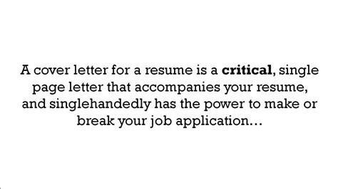 what is a cover letter for a resume