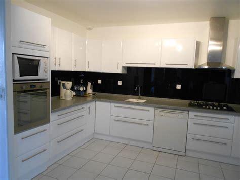cuisine blanc laque cuisines modernes laqué blanc brillant plan