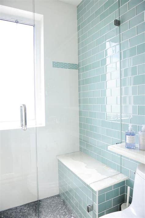 glass subway tile bathroom ideas blue glass subway tile bathroom room design ideas