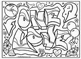 Coloring Graffiti Pages Printable Comments Omg Signs sketch template