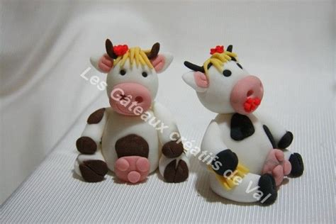 vaches photo de personnages et modelages en p 226 te 224 sucre les gateaux creatifs de val