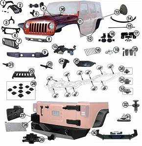 Diagrams For Jeep    Body Parts    Jeep Wrangler Jk  2007