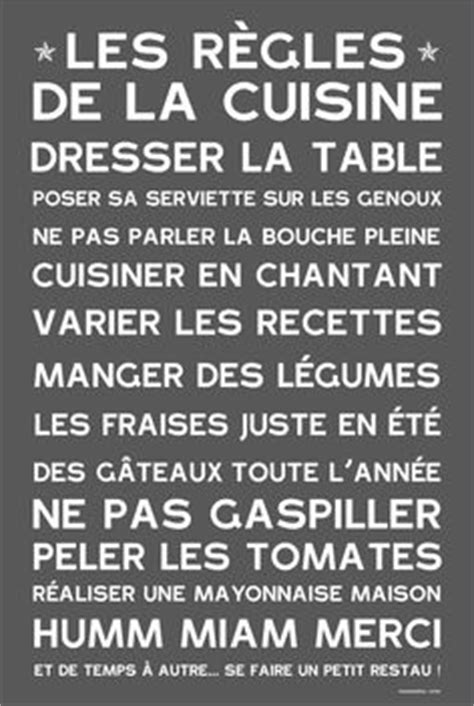 regle cuisine les règles de la cuisine le de damien