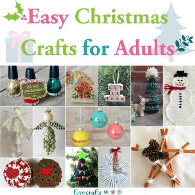 easy christmas crafts  adults favecraftscom