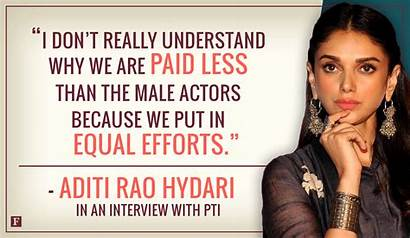 Quotes Gender Inequality India Bollywood Gap Pay