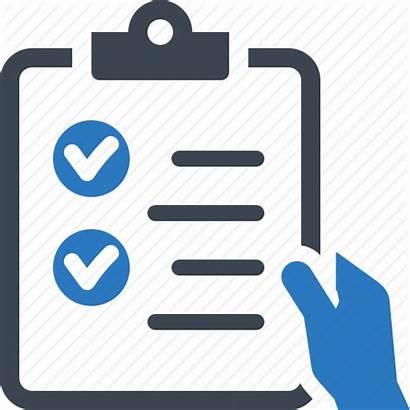 Icon Checklist Clipart Check Tasks Done Transparent