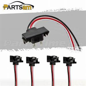 4pcs Round  Oval Stop Turn Tail Lights 3 Prong Trailer