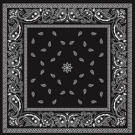 black  white bandana patterns design vector