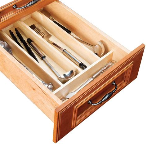 home depot kitchen drawer organizer home decorators collection 10x3x19 in utensil tray 7113
