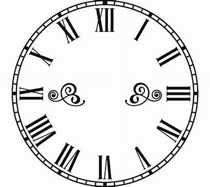 Clock Face Roman Numeral Transparent Numerals Clipart