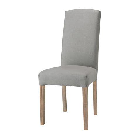 housses de chaise housse de chaise gris clair maisons du monde