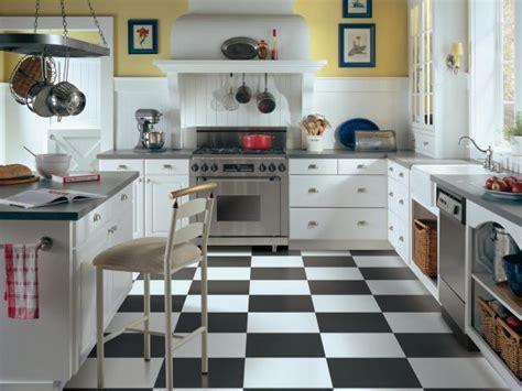 black and white kitchen floor ideas kitchen flooring ideas pictures hgtv