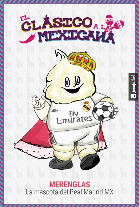 La mascota del Real Madrid al estilo Liga MX