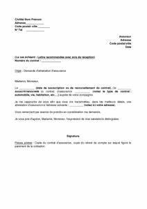 Assurance Auto Sans Avance D Argent : exemple gratuit de lettre demande attestation assurance assureur ~ Gottalentnigeria.com Avis de Voitures