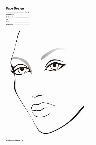 Makeup Chart Face Charts Printable Drawing Expressions