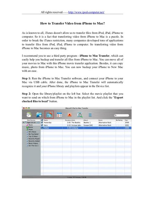 how to sync iphone to mac how to transfer from iphone to mac