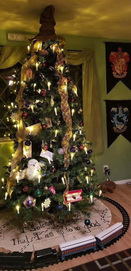 self made christmas tree harry potter christmas tree and decorations i am in 5647