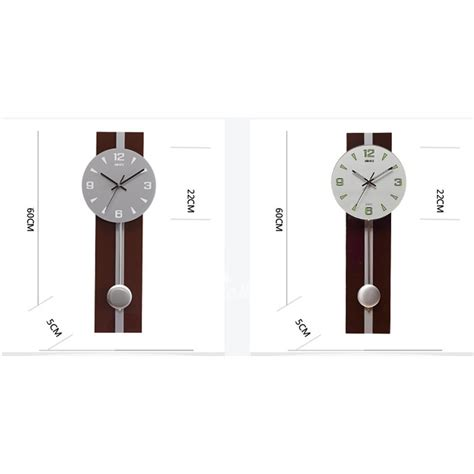 rectangle wall clock silent large modern decorative